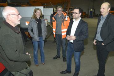 Erste Amtshandlung: Bürgermeister besichtigt den Baubetriebshof